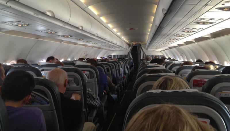 inside a plane